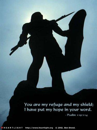 Inspirational illustration of Psalm 119:114