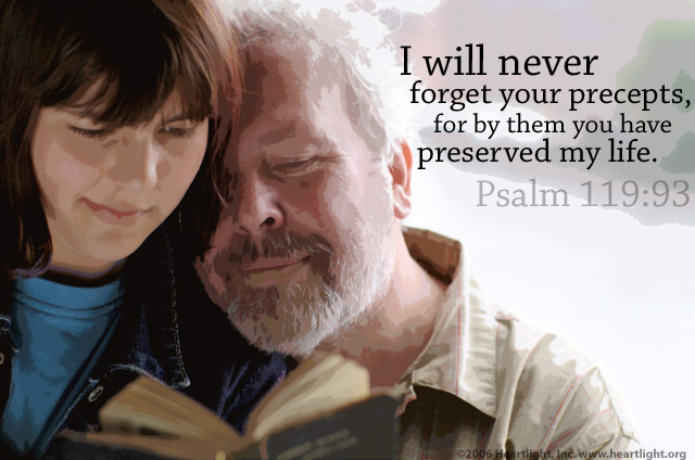 Inspirational illustration of Psalm 119:93