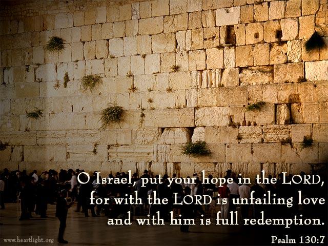 Inspirational illustration of Psalm 130:7