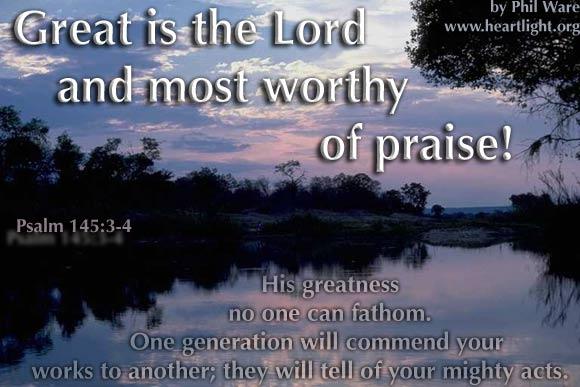 Psalm 145:3-4 (42 kb)