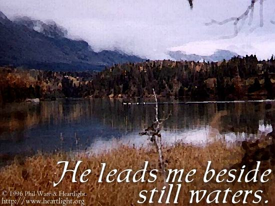 Inspirational illustration of Psalm 23:2
