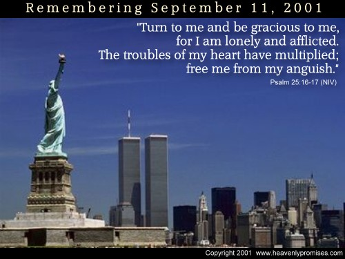 """Psalm 25:16-17 Illustrated: """"Remembering 9/11"""
