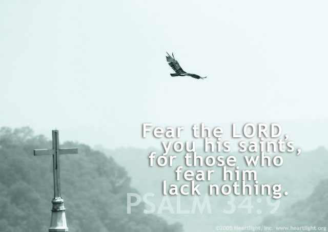 Inspirational illustration of Psalm 34:9