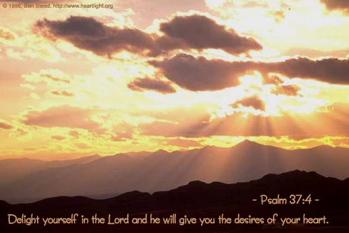Inspirational illustration of Psalm 37:4