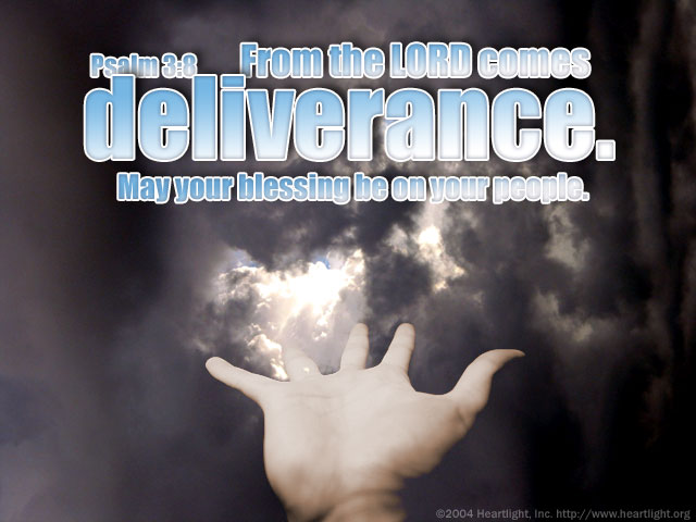 Inspirational illustration of Psalm 3:8