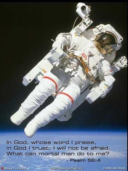 Inspirational illustration of Psalm 56:4