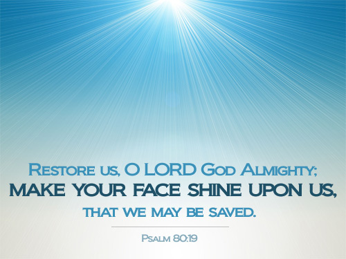 Inspirational illustration of Psalm 80:19