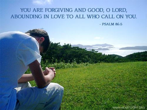 Inspirational illustration of Psalm 86:5
