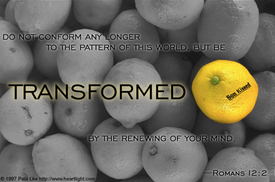 Inspirational illustration of Romans 12:2