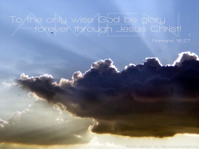 Inspirational illustration of Romans 16:27