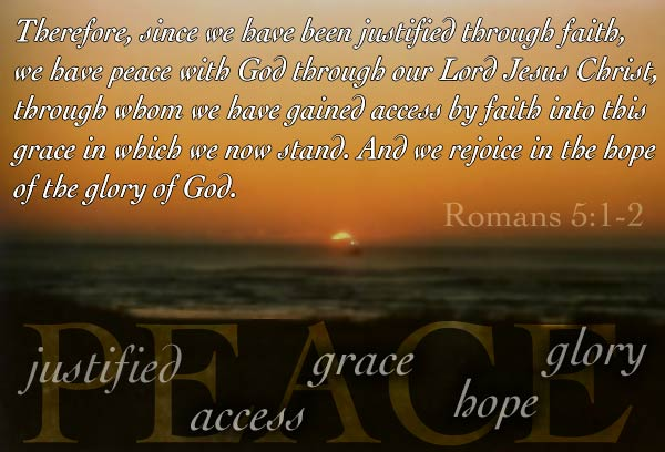 Inspirational illustration of Romans 5:1-2