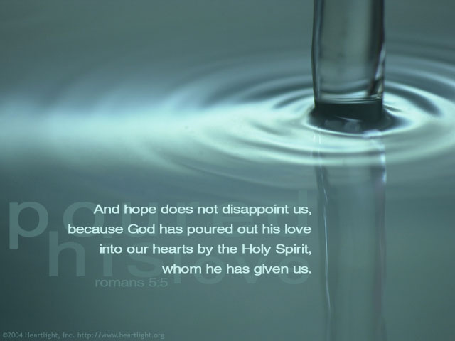 Inspirational illustration of Romans 5:5