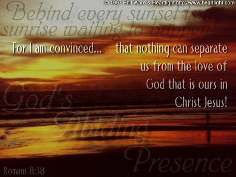 Inspirational illustration of Romans 8:38
