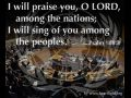 Where does God need to be praised most? (Psalm 108:3)