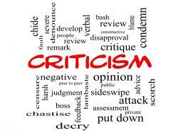 A Caution about Criticism