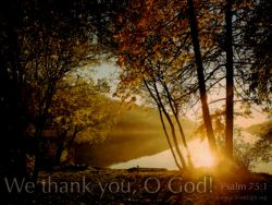 We Thank God for You!