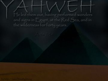 PowerPoint Background: Acts 7:36 Background