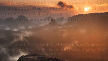 PowerPoint Background: Coming in the Clouds - Text