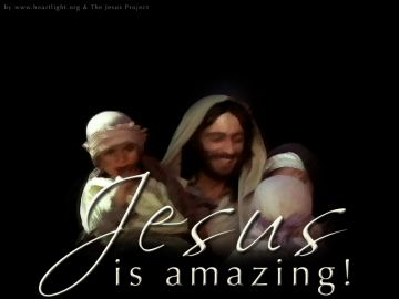 PowerPoint Background: Jesus is Amazing - Children