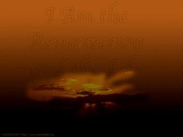 PowerPoint Background: John 11:25 - Dark