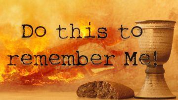 PowerPoint Background: John 16:33 Communion Title