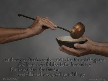 PowerPoint Background: Psalm 107:8-9 Text
