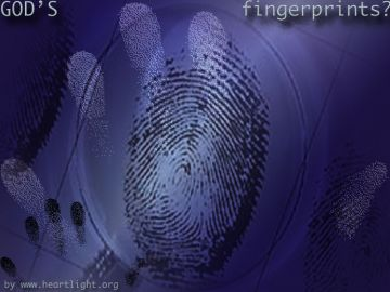 PowerPoint Background: psalm 139:13-16 - God's Fingerprints