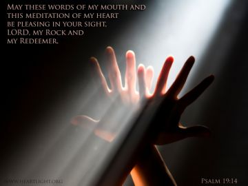 PowerPoint Background: Psalm 19:14 Text