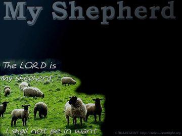 PowerPoint Background: Psalm 23:1 - Darker