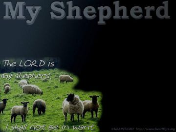 PowerPoint Background: Psalm 23:1