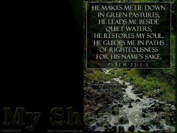 PowerPoint Background: Psalm 23:2-3 - Dark