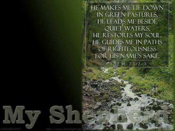 PowerPoint Background: Psalm 23:2-3
