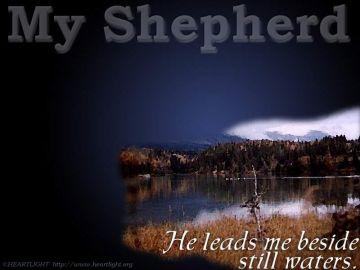 PowerPoint Background: Psalm 23:2 b