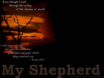 PowerPoint Background: Psalm 23:4 - Dark