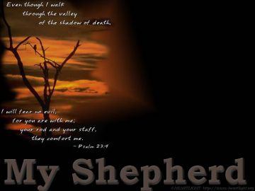 PowerPoint Background: Psalm 23:4