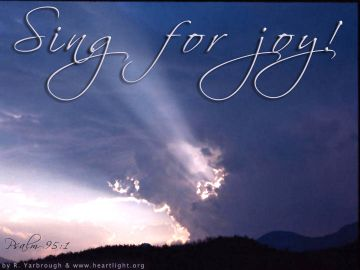 PowerPoint Background: Psalm 95:1 - Sing for Joy