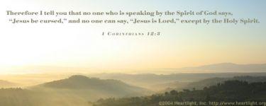 Illustration of the Bible Verse 1 Corinthians 12:3