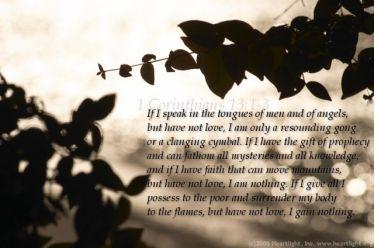 Illustration of the Bible Verse 1 Corinthians 13:1-3