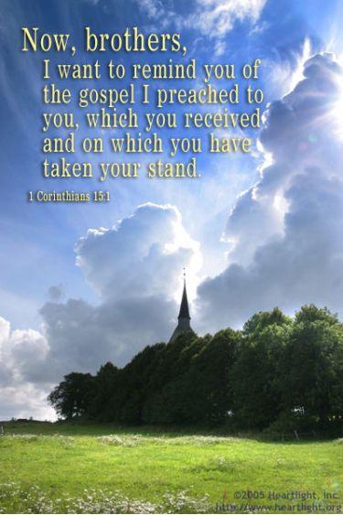 Illustration of the Bible Verse 1 Corinthians 15:1