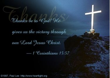 Illustration of the Bible Verse 1 Corinthians 15:57
