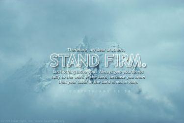 Illustration of the Bible Verse 1 Corinthians 15:58