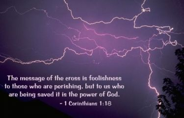 Illustration of the Bible Verse 1 Corinthians 1:18