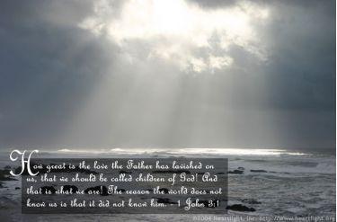 Illustration of the Bible Verse 1 John 3:1