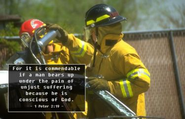 Illustration of the Bible Verse 1 Peter 2:19
