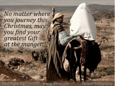 Illustration of the Bible Verse Merry Christmas at the Manger