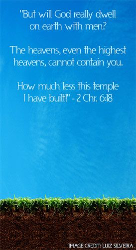 Illustration of the Bible Verse 2 Chronicles 6:18