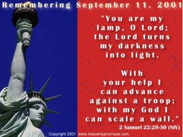 Illustration of the Bible Verse Remembering Sept. 11th