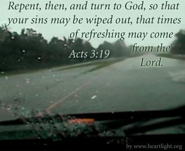 Illustration of the Bible Verse Acts 3:19
