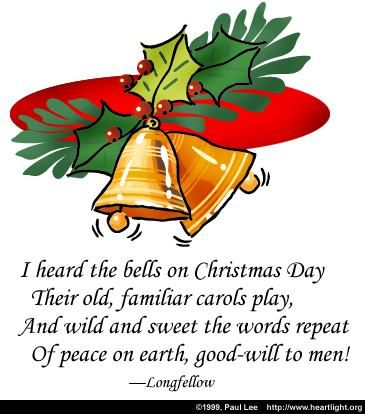 Illustration of the Bible Verse Bells on Christmas