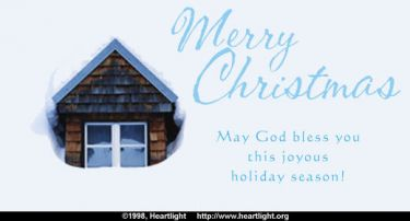 Illustration of the Bible Verse Merry Christmas